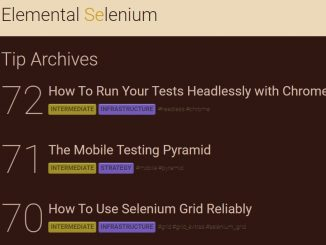Selenium software testing timps