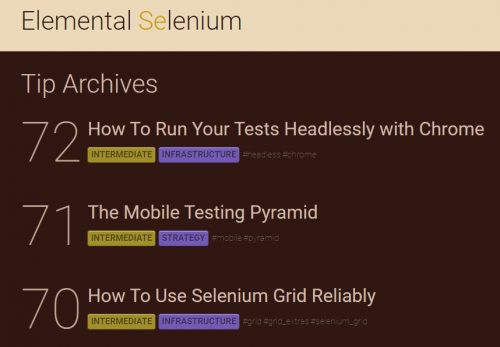 Selenium open source software testing tips