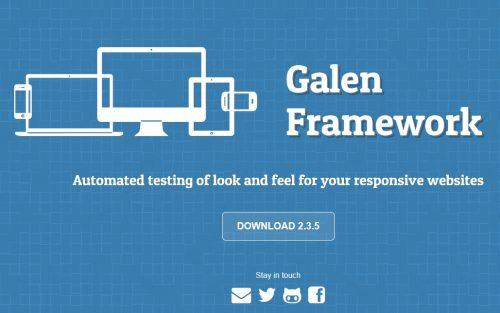 Galen Framework open source software testing tool