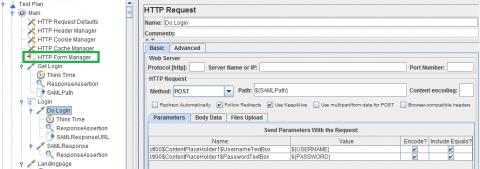 JMeter HTTP Form Manager