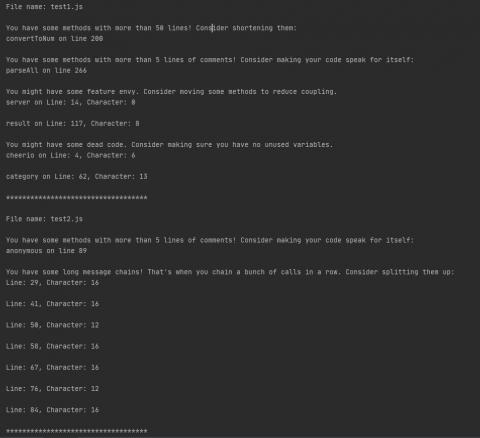JScent open source javascript code analyis