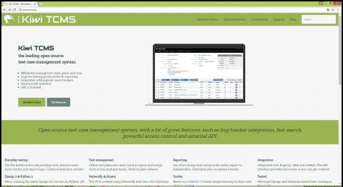 Kiwi Open Source Test Management Tool