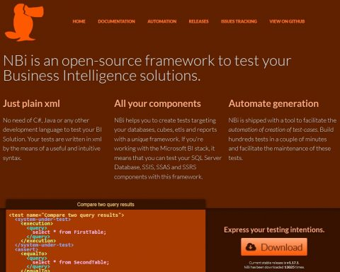 NBi is an open source testing framework