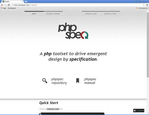 phpspec PHP BDD open source software testing tool