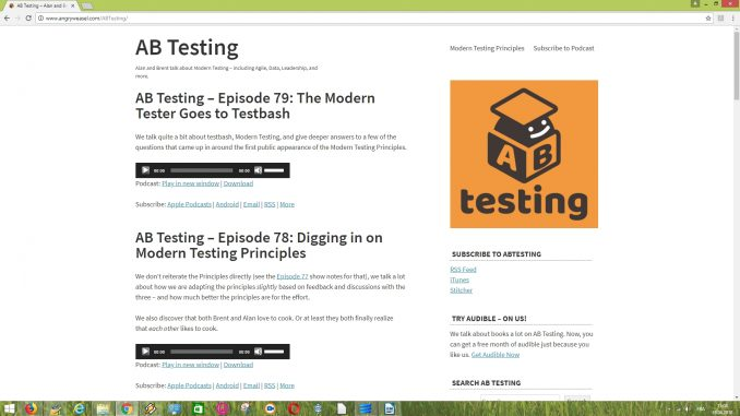 AB Testing Software Testing Podcasts