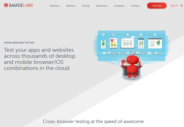 Sauce Labs is an online software testing platform