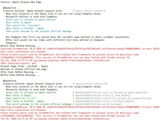 Integrating Selenium WebDriver with Java-TestNG and Cucumber