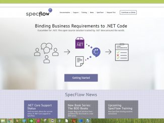 SpecFlow is an open source .NET software testing tool