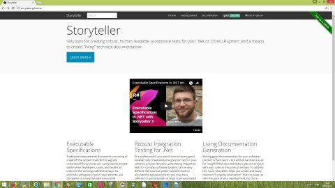 Storyteller is an open source software testing tool to create acceptance tests for .NET