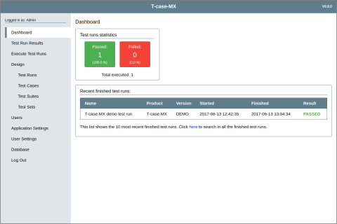 T-case-MX Open Source Test Management Tool