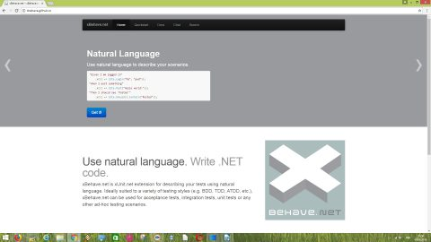 xBehave.net is xUnit.net extension for describing your .NET tests using natural language.
